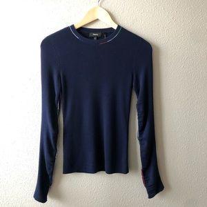 Theory Navy Knit Sweater Sz Small